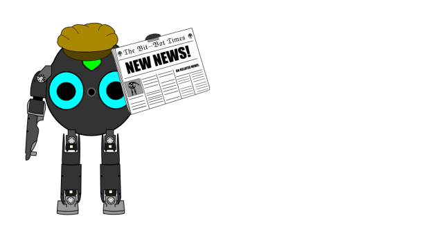Ein BitBot als Zeitungsjunge