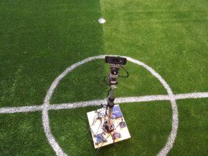 Der Vision Roboter mit eingefahrener Stange in klein