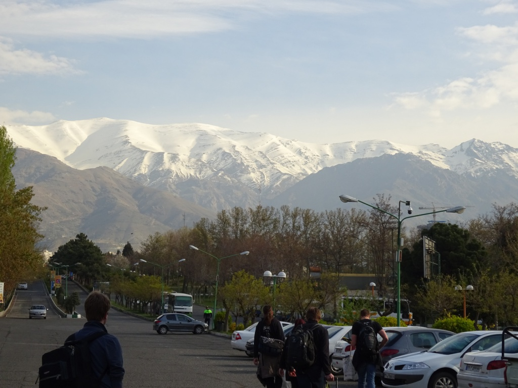 First Morning in Teheran - view to Alborz mountain range