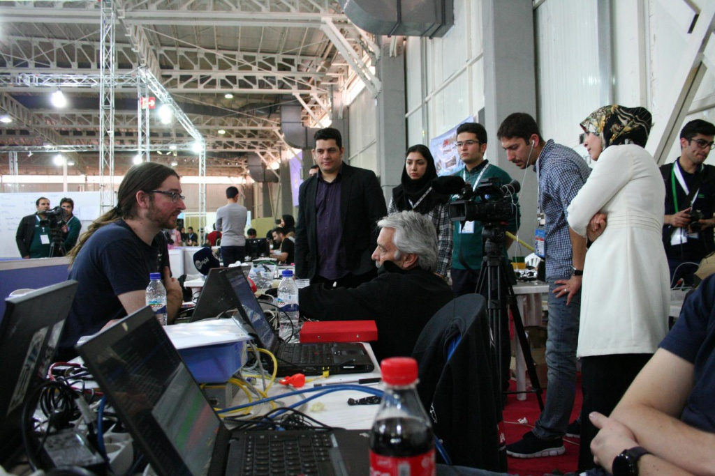 There is a lot of media interest in the IranOpen